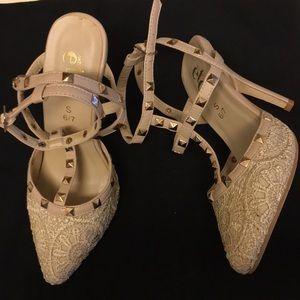 Rue 21 nude heels